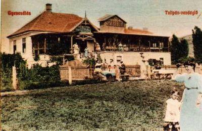 Tulipán szálló a XX. sz. elején