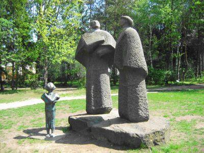család szoborcsoport
